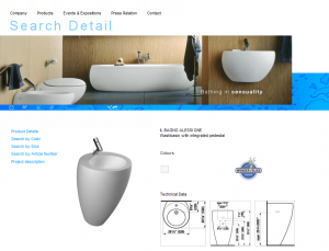 Laufen USA - Product Detail Screenshot