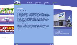 NÖM AG - Content Page Screenshot