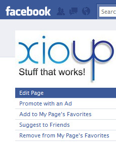 Click Edit Page to get to Facebook Fan Page Options