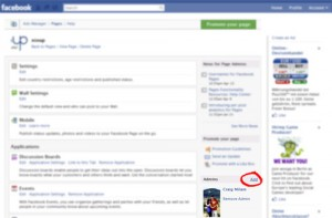 Find the Adminstrator box on Your Facebook Options Page and click Add